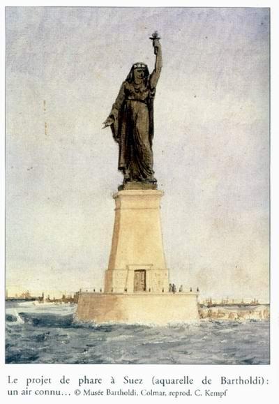 أوجست بارثولدي تمثال الحرية  origins of statue of liberty